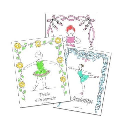 Ballet Coloring Sheets – Colored