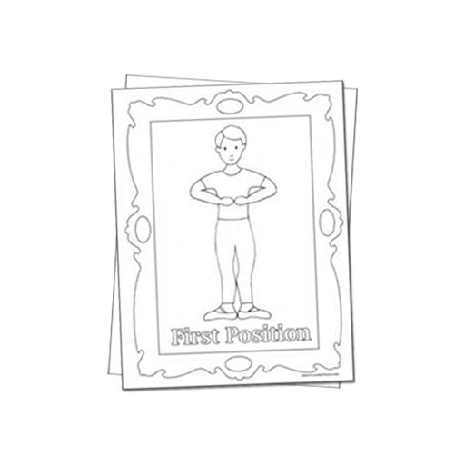 Reproducible Dance Coloring Sheets Featuring Boys