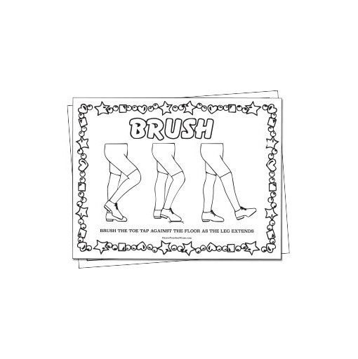 Tab Dance Brush Color Sheet