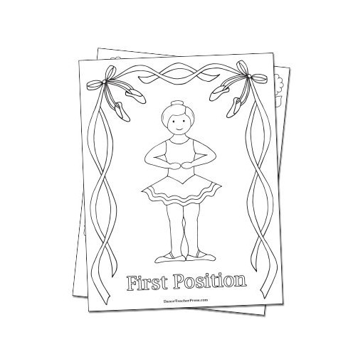 First Position Coloring Sheet