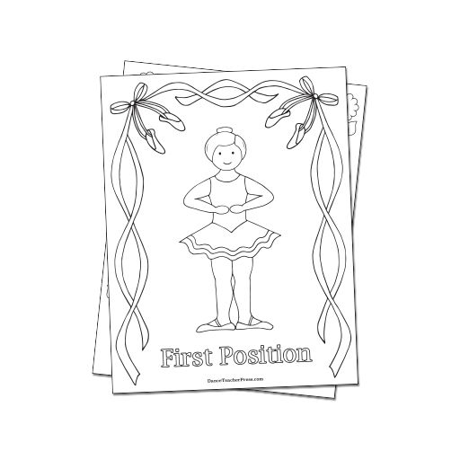 Reproducible Ballet Coloring Sheets