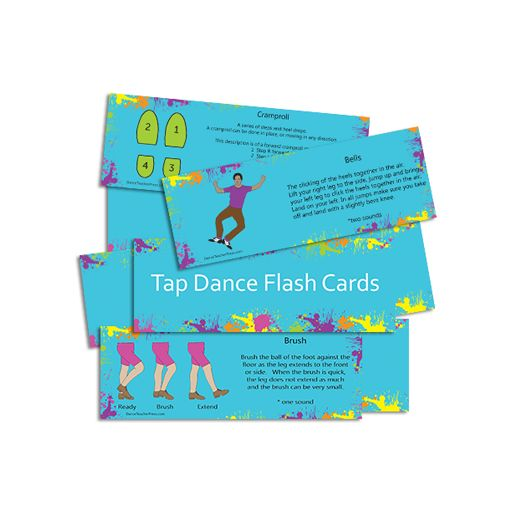Pile of Tap Dance Flash Cards