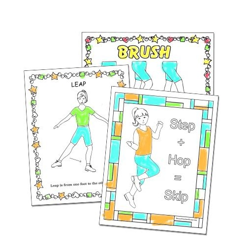 Group of Tap Dance Coloring Sheets