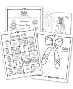 Ballet Activity Sheets