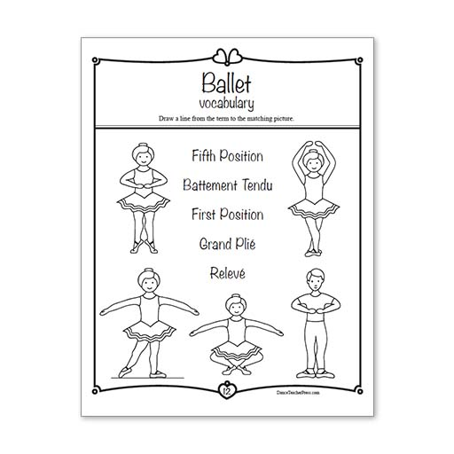 Ballet Activity Sheets – Level 1
