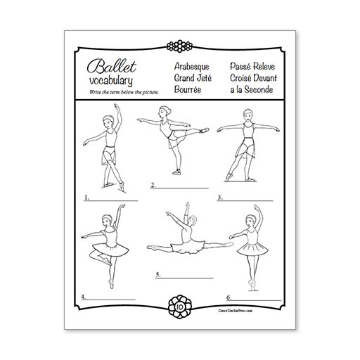 Ballet Activity Coloring Sheets